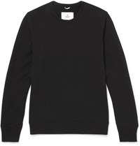 Reigning Champ Slim Fit Loopback Cotton Jersey Sweatshirt Black
