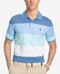 Izod Men's Colorblocked Performance Polo Heritage Blue