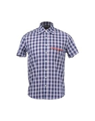 Blomor Short Sleeve Shirts Blue