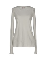 Douuod Topwear T Shirts Women Light Grey