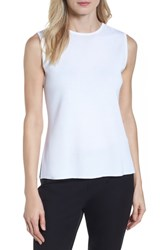 Ming Wang Jewel Neck Knit Tank White