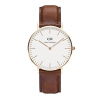 Daniel Wellington Classic St Mawes Rose Watch Tan