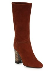 Burberry Jazmine Suede Slouch Boots Burnt Sienna