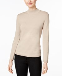 Charter Club Mock Turtleneck Sweater Only At Macy's Vintage Rose