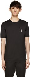 Dolce And Gabbana Black Owl Embroidered T Shirt