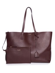 Saint Laurent Shopping Leather Tote Burgundy