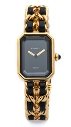 Wgaca Vintage Chanel Premiere Watch Black Gold