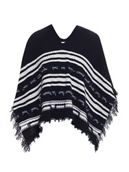 Barrie Gipsy Sailor Cashmere Knit Poncho