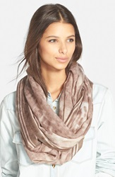 Nordstrom 'Blurred Cheetah' Wool Infinity Scarf Tan Combo