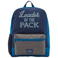 Joules Leader Of The Pack Children's Backpack Navy Grey