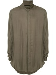 Julius Band Collar Shirt Neutrals