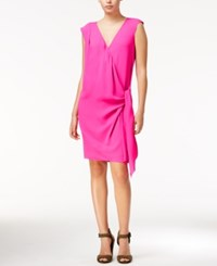 Rachel Roy Draped Faux Wrap Dress Only At Macy's Party Pink