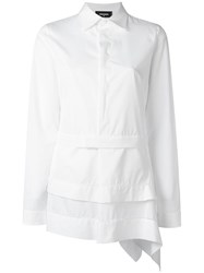 Dsquared2 Asymmetric Layered Design Shirt White