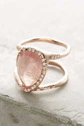 Anthropologie Pink Sapphire Infinity Ring Gold