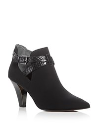 Donald J Pliner Tamy Pointed Toe Booties Black