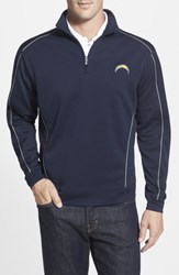 Cutter And Buck Men's Big Tall 'San Diego Chargers Edge' Drytec Moisture Wicking Half Zip Pullover