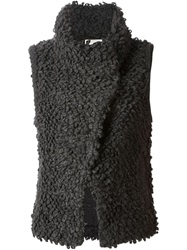 Iro 'Catleen' Knitted Looped Gilet Grey