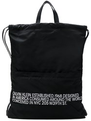 Calvin Klein 205W39nyc Logo Drawstring Backpack Black
