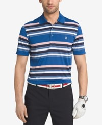 Izod Men's Auto Stripe Golf Polo True Blue