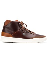 Lacoste Lace Up Boots Brown