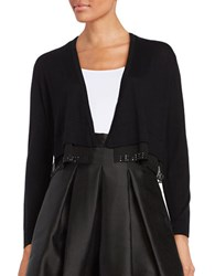Tommy Hilfiger Open Front Contrast Cardigan Black