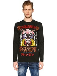 Dsquared Japan Print Jersey Long Sleeve T Shirt