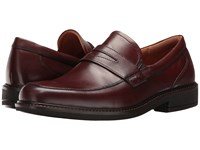 Ecco Holton Penny Loafer Rust Men's Slip On Dress Shoes Red