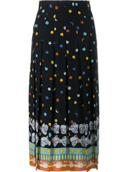 Gucci Printed Pleated Skirt Black