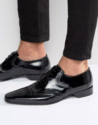 Jeffery West Escobar Croc Derby Brogues Black