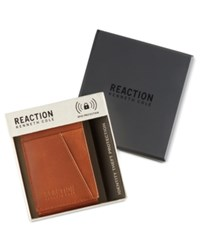 Kenneth Cole Reaction Men's Leather Kevin Front Pocket Rfid Wallet Tan