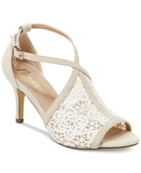 Nanette Lepore By Bella Crochet Sandals Women's Shoes Ivory