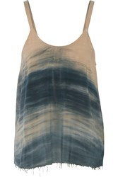 Raquel Allegra Tie Dyed Brushed Crepe Tank