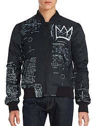 Eleven Paris Basquiat Graphic Jacket Black