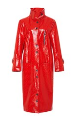 Lrs Leather Car Coat Red