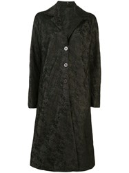 Peter Cohen Single Breasted Abstract Patterned Coat 60