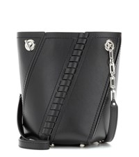 Proenza Schouler Mini Hex Leather Bucket Bag Black