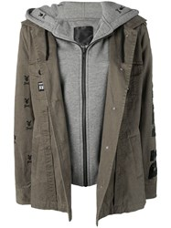 Philipp Plein Playboy Parka Green