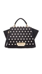 Zac Posen Eartha Imitation Pearl Lady Soft Top Handle Bag Black