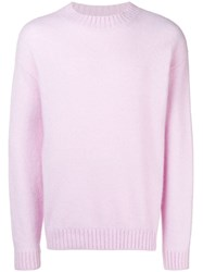 Laneus Crew Neck Jumper Pink And Purple