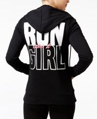 Material Girl Active Hoodie Juniors' Run Like A Graphic Only At Macy's Black