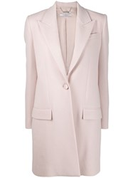 Givenchy Single Breasted Tailored Coat Pink