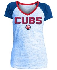 5Th And Ocean Women's Chicago Cubs Space Dye Stone T Shirt Royalblue