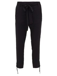 Ann Demeulemeester Laced Cuff High Rise Trousers Black