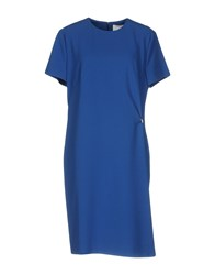 Boss Black Knee Length Dresses Blue