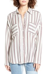 Women's Bp. Stripe Button Front Shirt