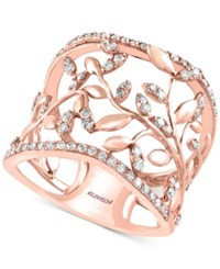 Effy Collection Pave Rose By Effy Diamond Vine Band 1 2 Ct. T.W. 14K Rose Gold
