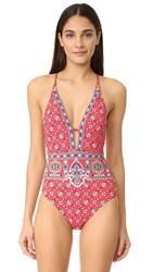 Nanette Lepore Pretty Tough Goddess One Piece Ruby