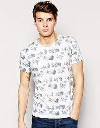 Pull And Bear Pullandbear T Shirt With All Over Print Offwhite