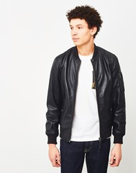 Schott Nyc Leather Bomber Jacket Black