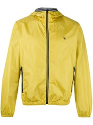Fay Hooded Anorak Jacket Yellow Orange